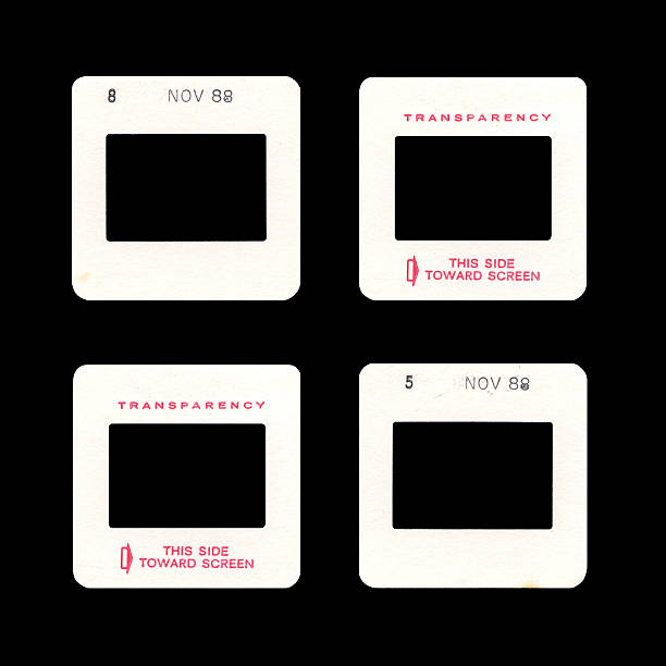 Empty Film Slides (XL)  photographic slide stock pictures, royalty-free photos & images