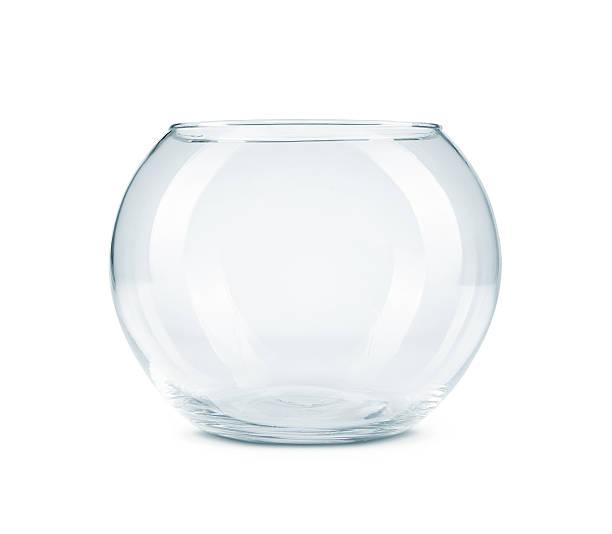 leere fish bowl - vase glas stock-fotos und bilder