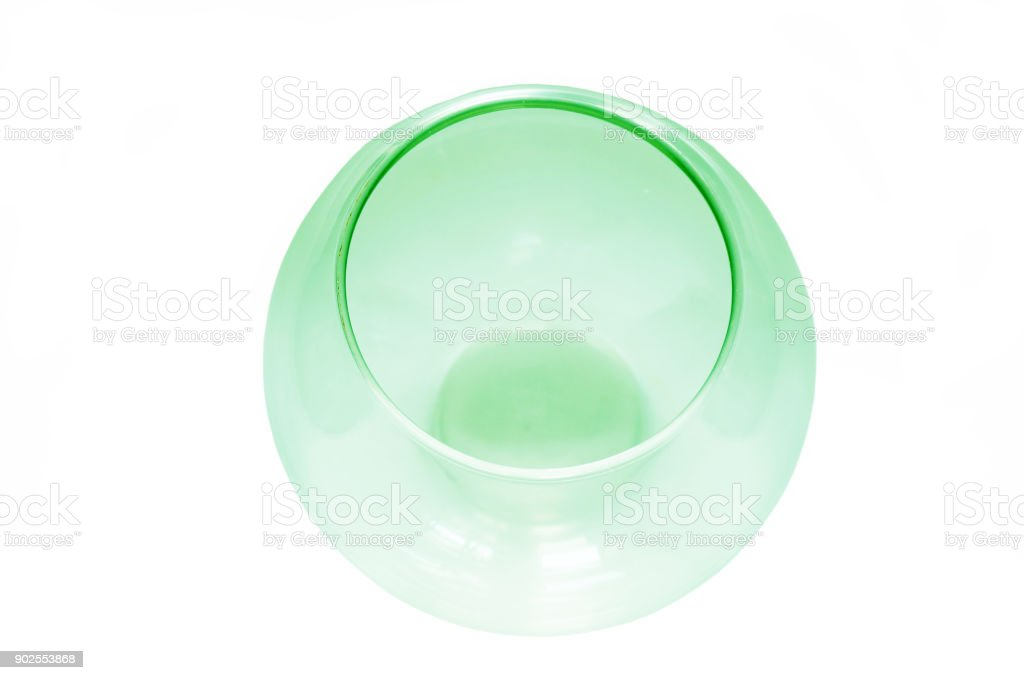 Empty fish bowl stock photo