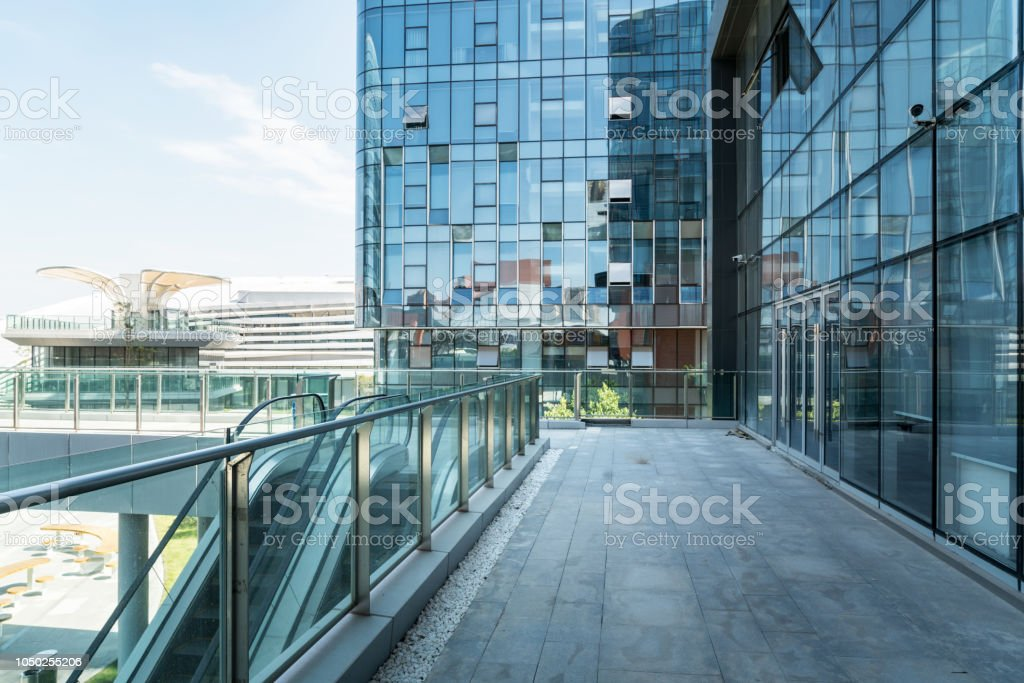 Empty floor and modern office building inScience and Technology Park...