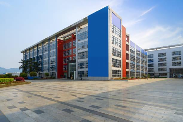 Leere Etage und moderneBürogebäude in Science and Technology Park, chongqing, China – Foto