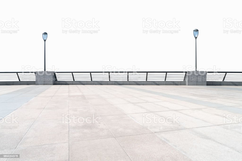 empty floor and railings isolated - Royalty-free Architecture Stock Photo