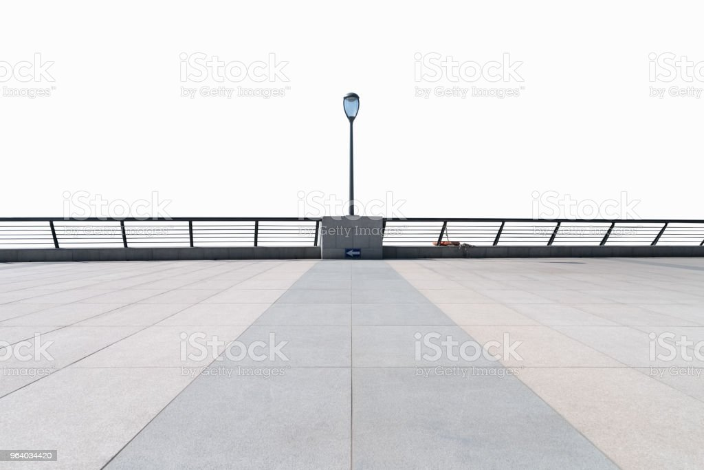 empty floor and railings isolated - Royalty-free Abstract Stock Photo