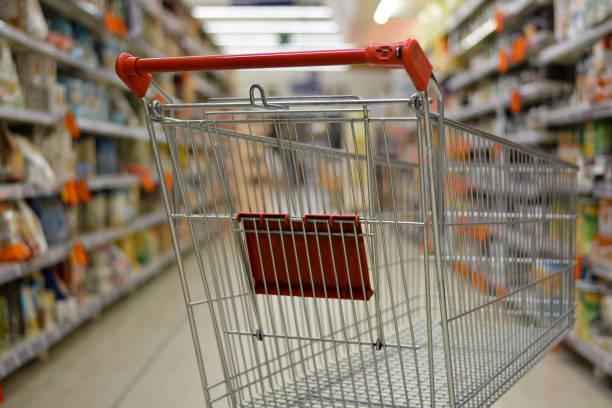 empty food aisles for fear of coronavirus