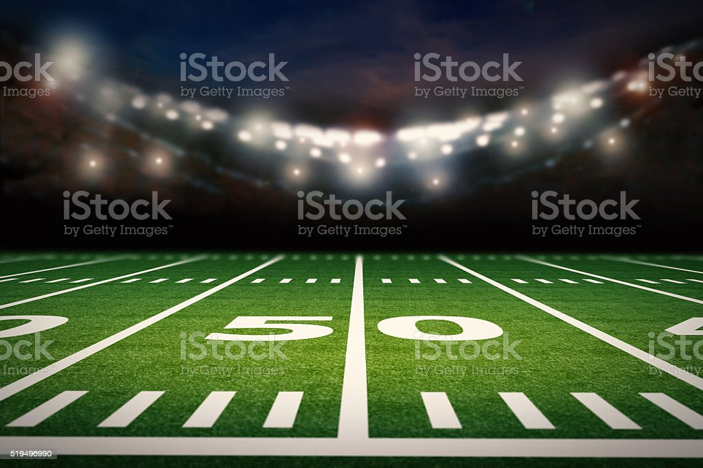 empty football field stock photo