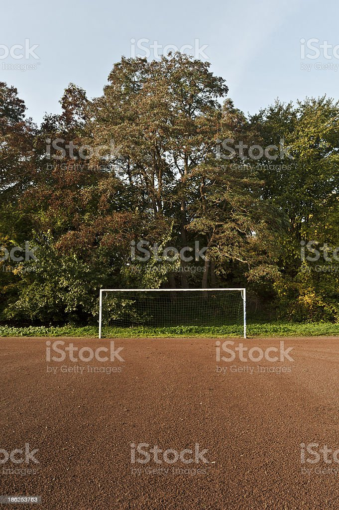 Empty Football Goal royalty-free stock photo