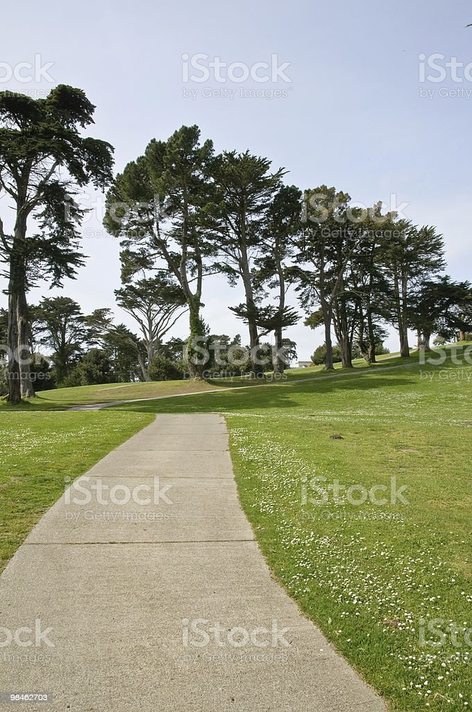 Empty footpath royalty-free stock photo