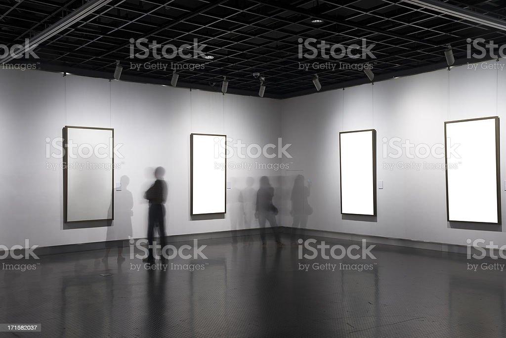 empty form in art museum stock photo
