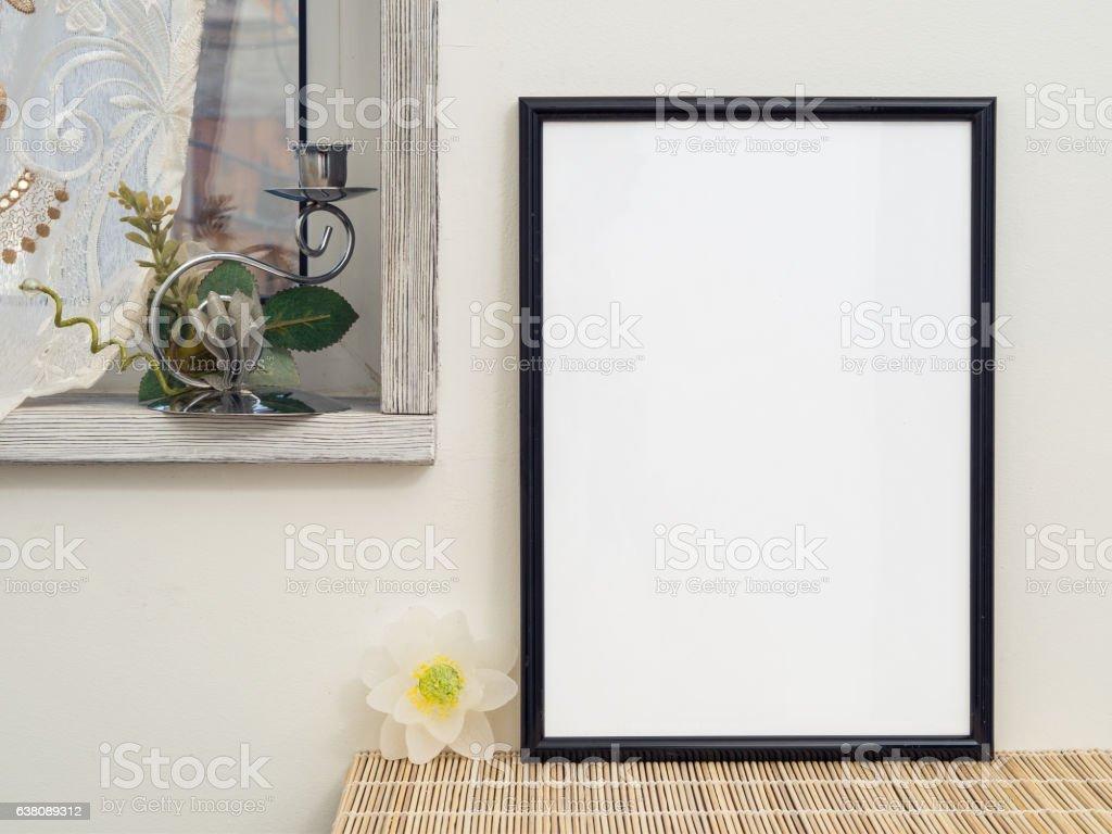 Empty frame for an inscription stock photo