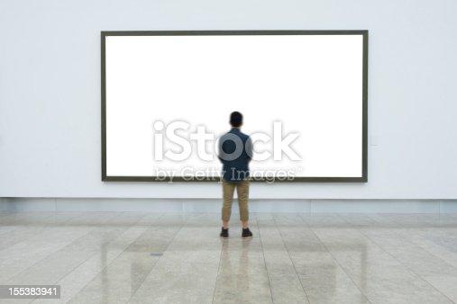 istock empty frame in art museum 155383941