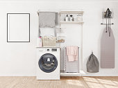 Empty Frame in Laundry Room