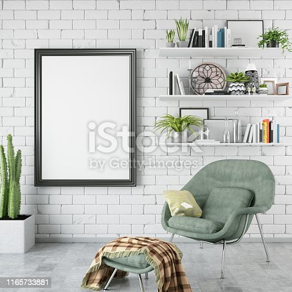 picture frame in living room