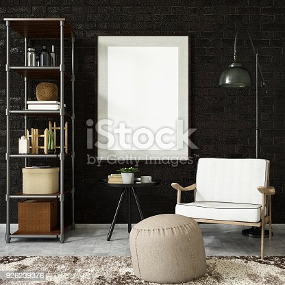 1153448605 istock photo Empty Frame in Living Room 926239376
