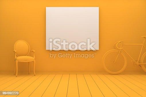 654050754istockphoto Empty Frame in Living Room 994992270