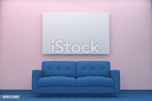 654050754istockphoto Empty Frame in Living Room 995024880