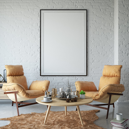 Empty Frame on Living Room's Wall