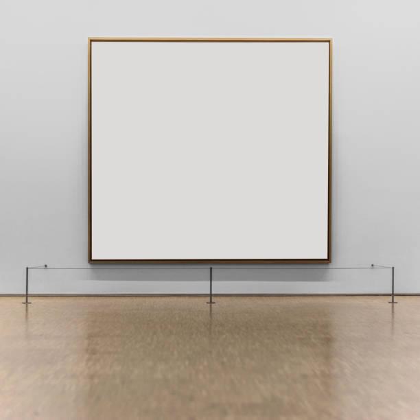 empty frame on the wall of a museum - organizm żywy zdjęcia i obrazy z banku zdjęć