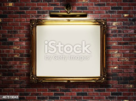 istock Empty frame on the wall 467519043