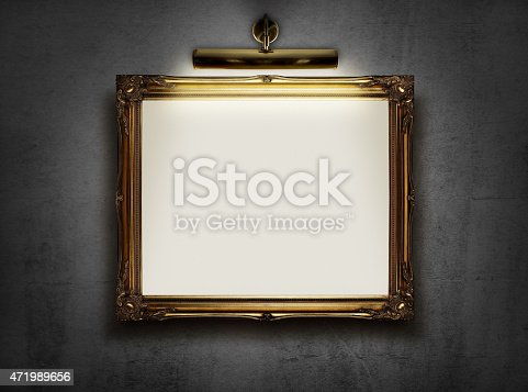 istock Empty frame on the wall 471989656