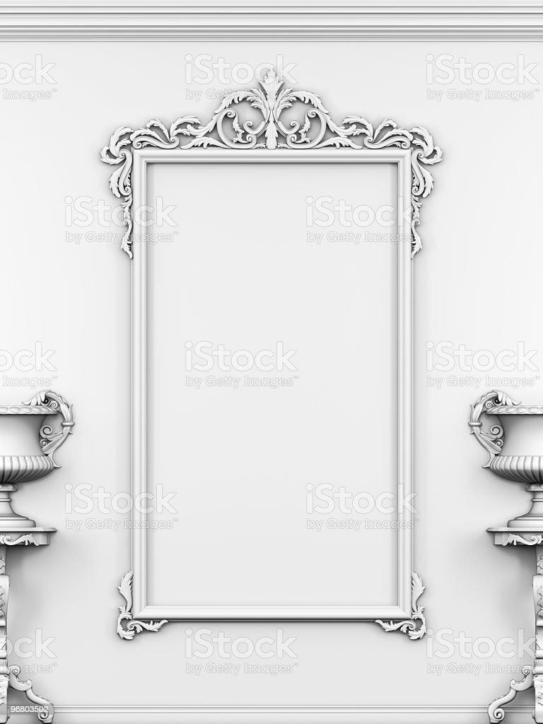 Empty frame on the wall stock photo more pictures of baroque empty frame on the wall royalty free stock photo jeuxipadfo Gallery