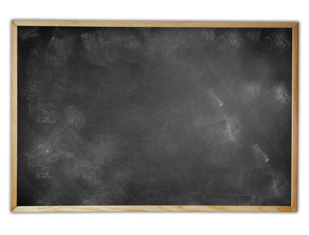 Empty framed blackboard stock photo