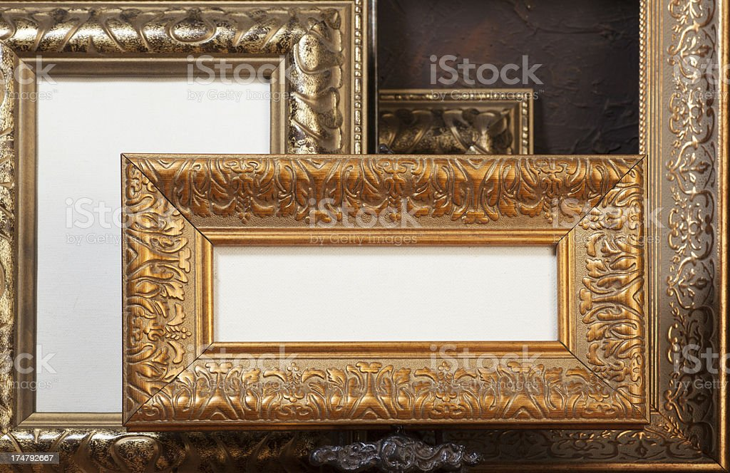 Empty frames for pictures. royalty-free stock photo