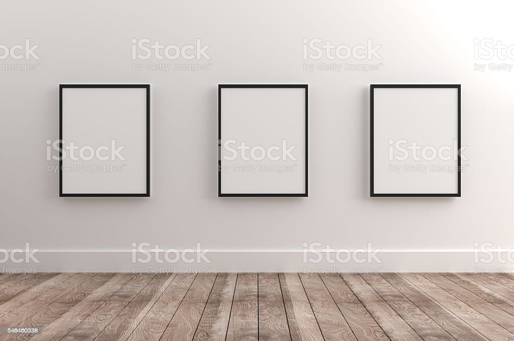 picture frames on wall. Empty Frames Stock Photo Picture On Wall