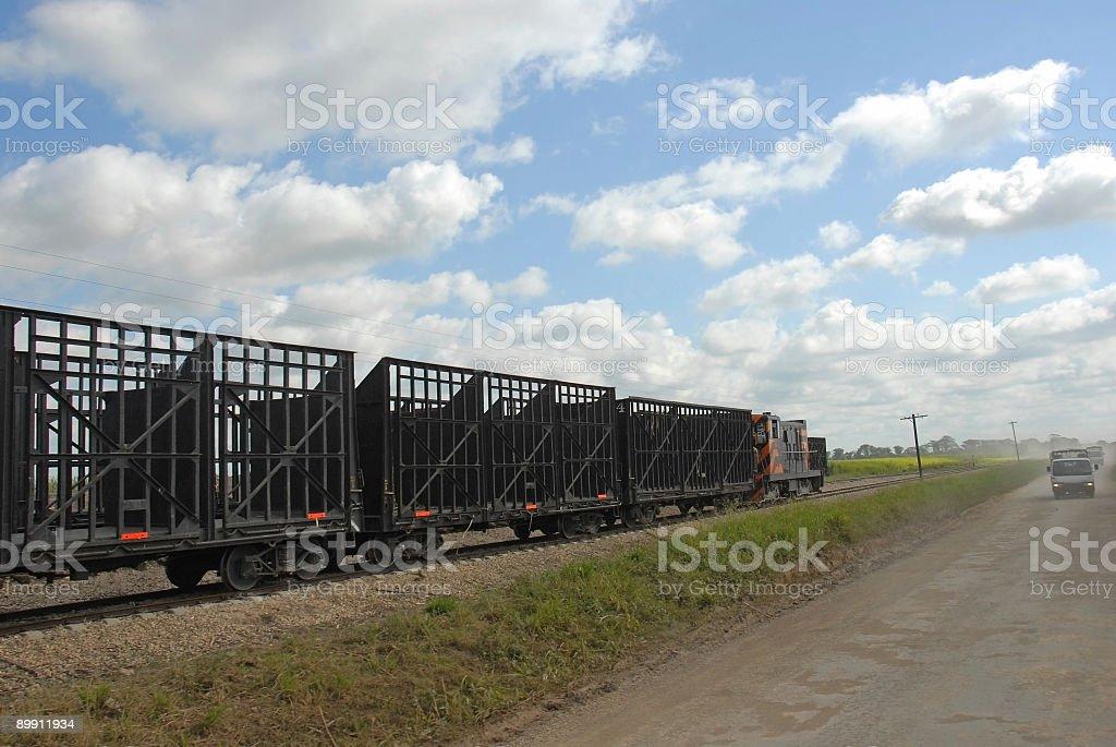 empty freight train royalty-free stock photo