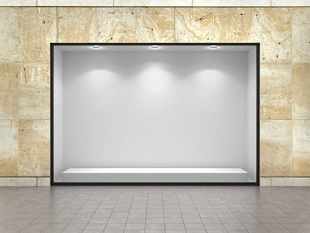 empty ftorefront of shop. - store window stock pictures, royalty-free photos & images