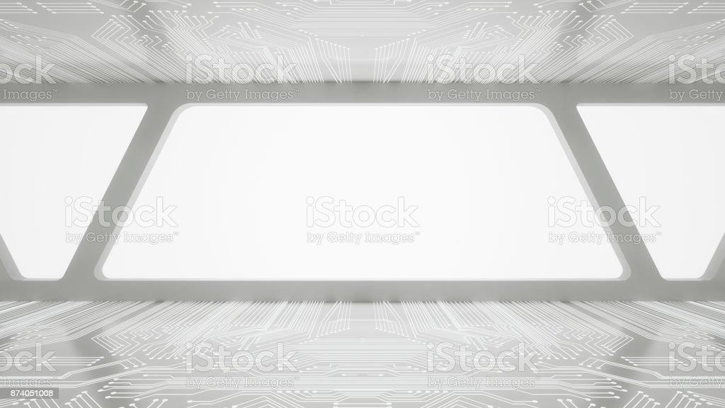 Habitación vacía futurista - foto de stock