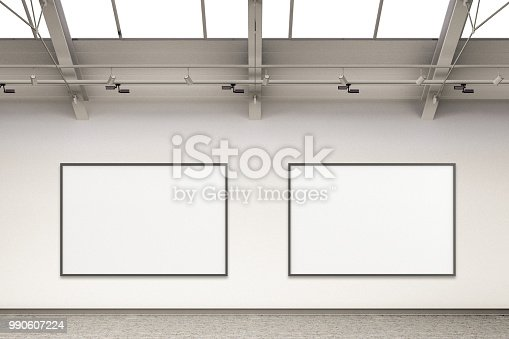 644237470istockphoto Empty gallery interior 990607224