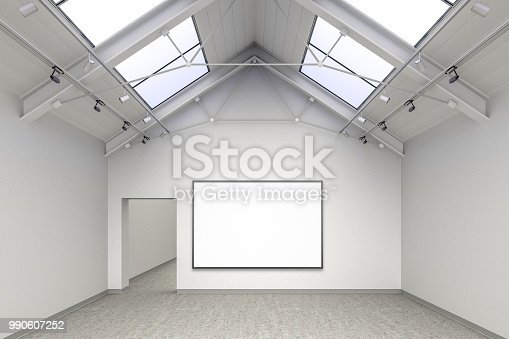 644237470istockphoto Empty gallery interior 990607252