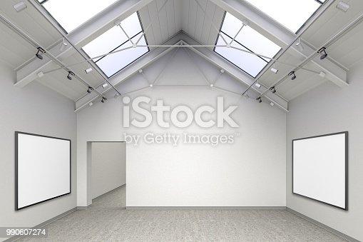 istock Empty gallery interior 990607274