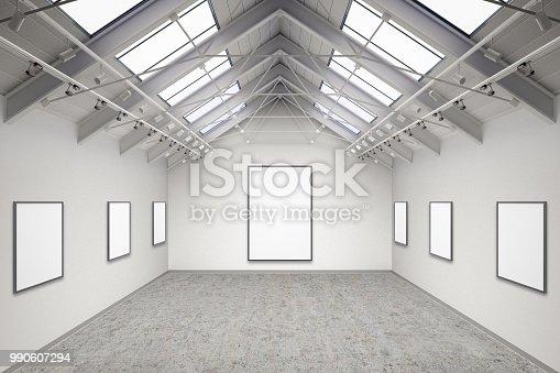 istock Empty gallery interior 990607294