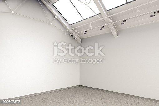 istock Empty gallery interior 990607372