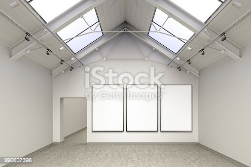 644237470istockphoto Empty gallery interior 990607396