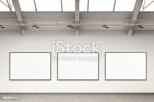 istock Empty gallery interior 990607412