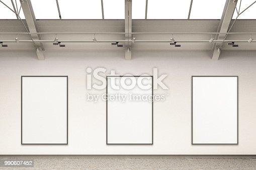 istock Empty gallery interior 990607452
