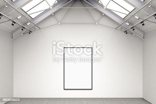 644237470istockphoto Empty gallery interior 990609520