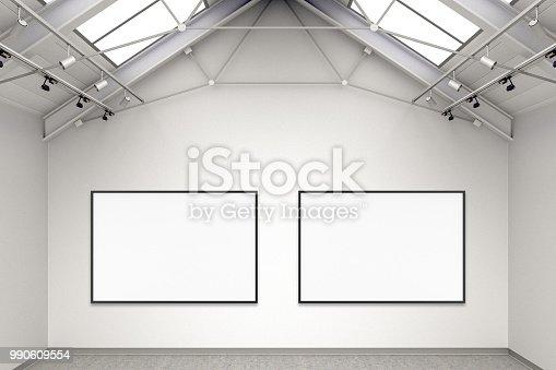 istock Empty gallery interior 990609554