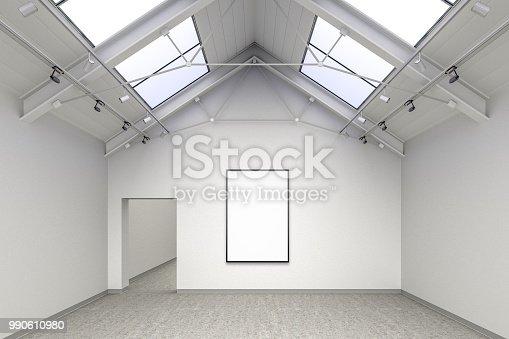 istock Empty gallery interior 990610980