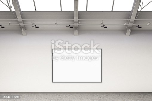 644237470istockphoto Empty gallery interior 990611636