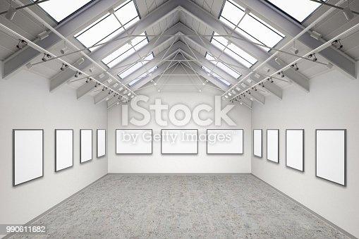 istock Empty gallery interior 990611682