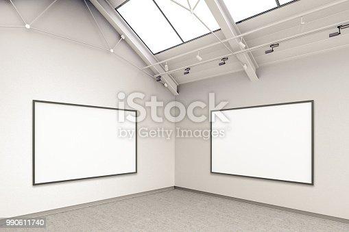 istock Empty gallery interior 990611740