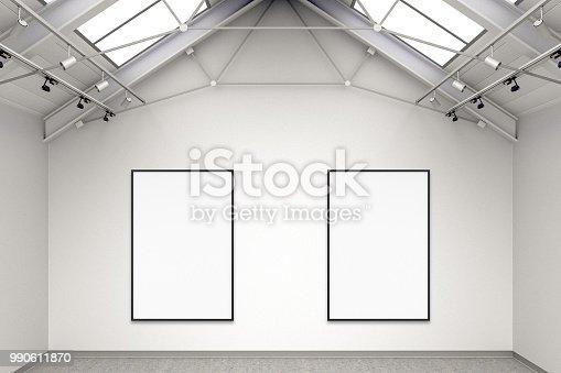 936286060 istock photo Empty gallery interior 990611870
