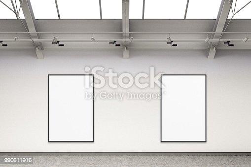 936286060 istock photo Empty gallery interior 990611916