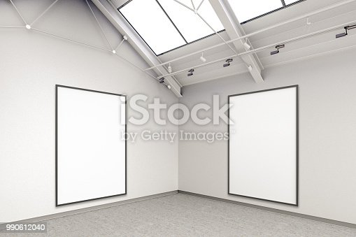 istock Empty gallery interior 990612040