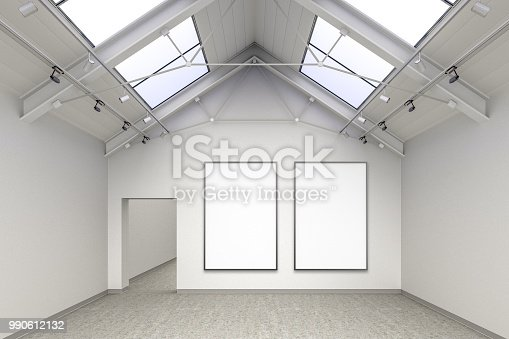 istock Empty gallery interior 990612132