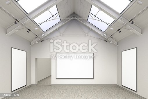 644237470istockphoto Empty gallery interior 990612178