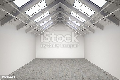 644237470istockphoto Empty gallery interior 990612258